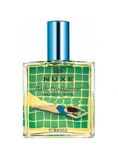 Нюкс Продижьез Масло для лица тела и волос Сухое Лимитированный выпуск 100 мл Nuxe huile Prodigieuse Limited Edition Blue (042801)