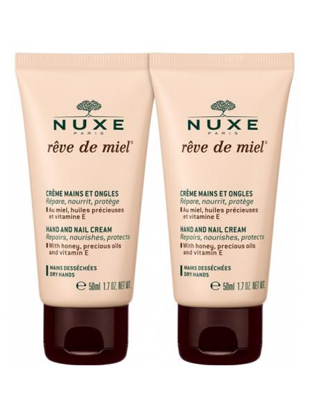 Нюкс Рэв де Мьель НАБОР Крем для рук и ногтей 2 штуки по 50 мл Reve de Miel Nuxe (010798)
