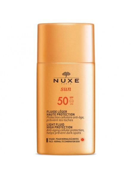 Нюкс Сан Эмульсия для лица Солнцезащитная SPF50 50 мл Nuxe Sun Light Fluid High Protection (VN046701)