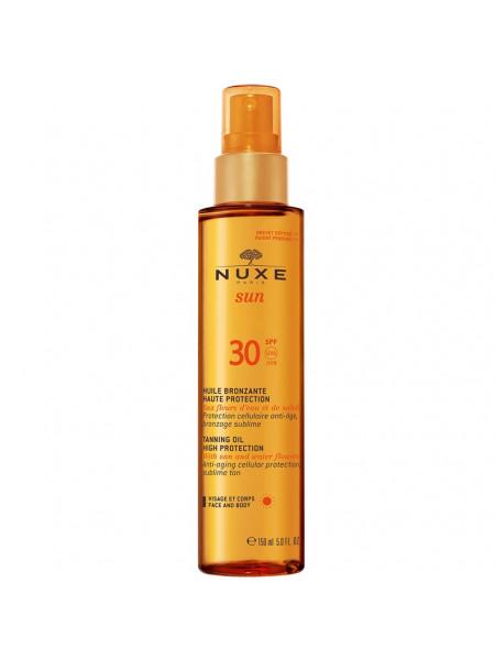 Нюкс Сан Масло для лица и тела SPF30 150 мл Nuxe Sun Huile Bronzate Haute Protection (02026)