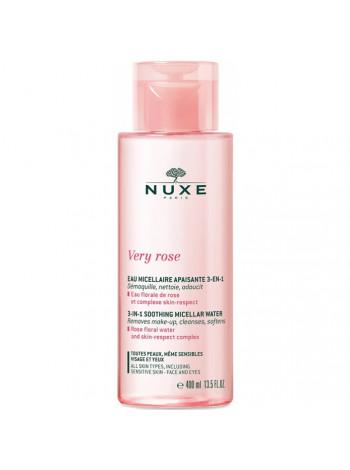 Нюкс Вода для лица и глаз Мицеллярная Увлажняющая 3 в 1 400 мл Nuxe Very Rose Eau Micellare Apaisante 3-en-1 (106238)