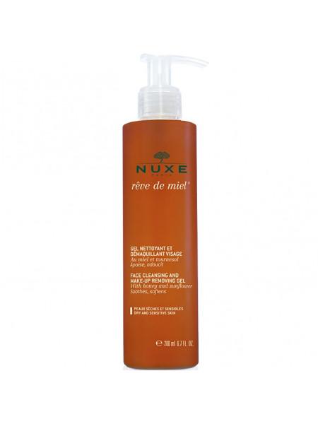 Нюкс Рэв де Мьель Гель для лица очищающий для снятия макияжа 200 мл Reve de Miel Nuxe