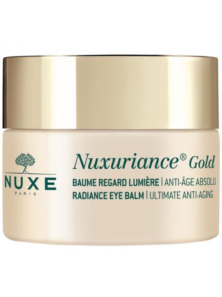 Нюкс Нюксурьянс Голд Бальзам для кожи вокруг глаз Разглаживающий Антивозрастной 15 мл Nuxe Nuxuriance Gold Baume Regard Luimiere