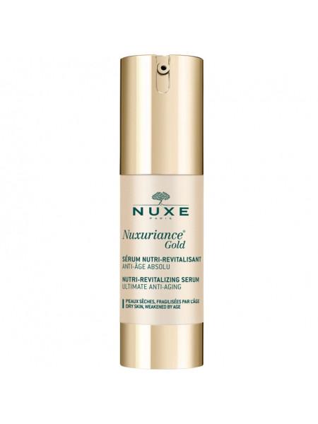 Нюкс Нюксурьянс Голд Сыворотка для лица Укрепляющая Антивозрастная 30 мл Nuxe Nuxuriance Gold Serum Nutri-revitalisant