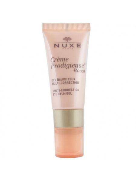 Нюкс Продижьез Буст Гель для кожи вокруг глаз Мультикорректирующий 15 мл Nuxe Creme Prodigieux Boost Gel Baume Yeux Multi-correction